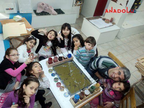 Çocuklarla Ebru Sanatı